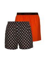 Bruno Banani Outlook Men: Boxershort 2er Pack, rot/anthrazit-weiß-rot print