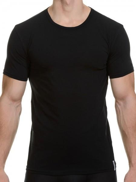 Bruno Banani Cotton Simply: Shirt 2er Pack, schwarz