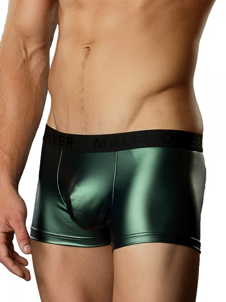 Male Power Matte Metallic: Mini Pouch Short, grün
