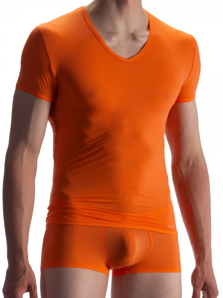 Olaf Benz RED0965: Phantom V-Neck-Shirt, mandarin