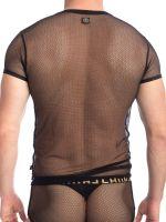 L'Homme Voile Envoutant: V-Neck-Shirt, schwarz