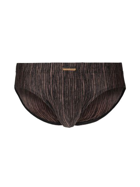 Bruno Banani Lava Field: Sportbrief, schwarz/bronze stripes