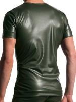 MANSTORE M510: V-Neck-Shirt, oliv