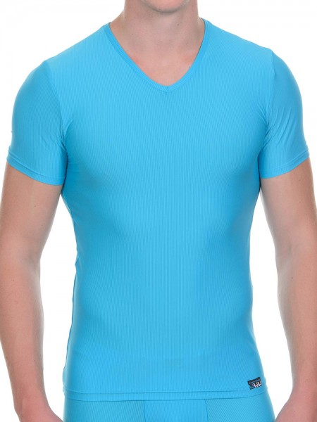Bruno Banani Battery: V-Neck-Shirt, türkis