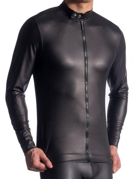 MANSTORE M510: Zipped Longsleeve, schwarz