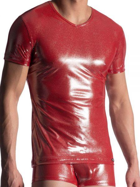 MANSTORE M907: V-Neck-Shirt, rot
