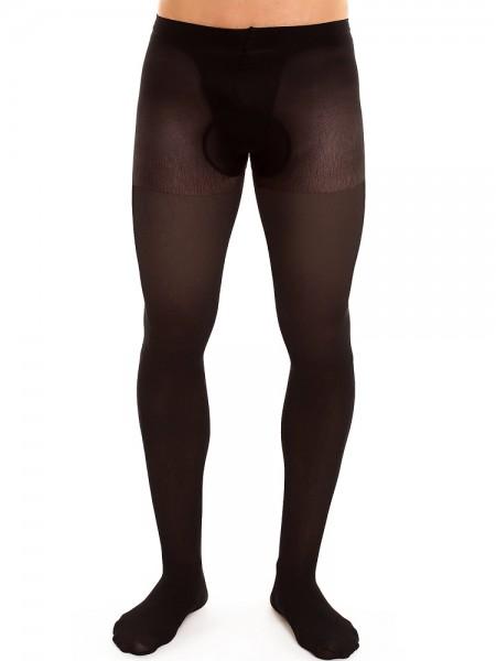 Glamory Support 40: Herren-Stützstrumpfhose, schwarz
