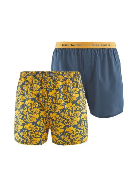 Bruno Banani Ornamental: Boxershort 2er Pack, safran-ornament/graphit