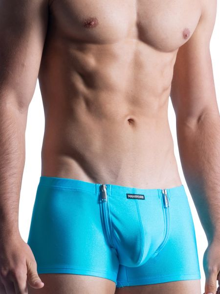 MANSTORE M859: Beach Zipped Pant, azur