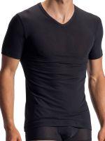 Olaf Benz RED1950: V-Neck-Shirt, schwarz