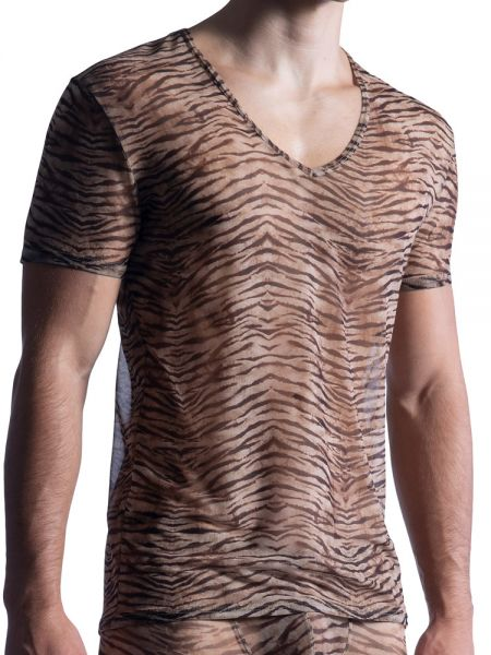 MANSTORE M855: V-Neck-Shirt, tiger